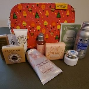 L'occitane Holiday Travel Pouch with Products